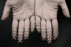 Stippling Tattoos by Kenji Alucky #tips #fingers #human #henna #tattoo #photography #hands #finger #leaves