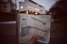 Mr. Mun #weissenhof #photography #architecture #moleskine #sketch