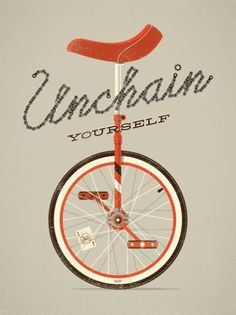 DKNG » Store » Unchain Yourself #yourself #unicycle #poster #unchain #dkng