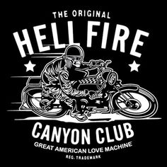 FFFFOUND! | Love Machine Presents: Hell Fire Canyon Club : The Butcher's Block #logo #skull