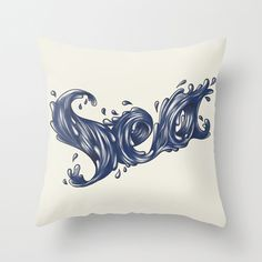 Typography by Mr Cédric #ocean #water #design #graphic #wave #sea #fluid #cushion #typography