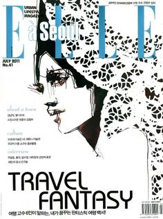 Elle a Seoul July 2011 | MODESQUISSE #pattern #illustration #persson #fashion #stinna