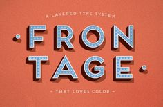 Frontage Typeface +freefont on the Behance Network #font #free #type #frontage #typography