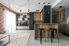 Industrial Modern Apartment in Vilnius, Lithuania 2