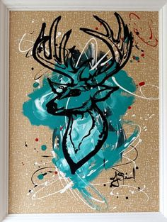 Chloe Moore Photography: The Blog: Taylor's Buckhead Painting #reindeer #image #arts #painting #fine