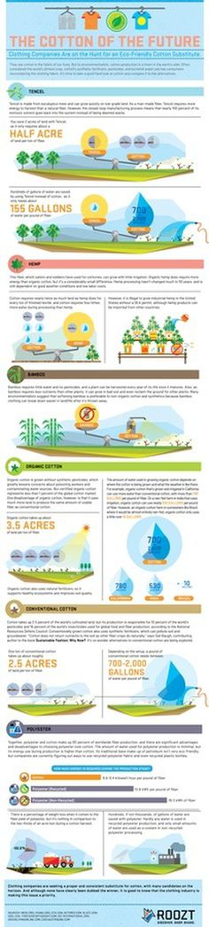 The Cotton of The Future #infographic #clothing #cotton #environment