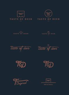 Taste of Deer #mark #deer #logo #taste #tod