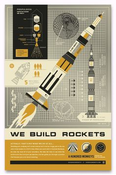 Neighborhood Studio Rocket Poster #jinkins #space #curtis #illustration #rocket