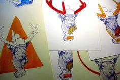 serigraphy #deer