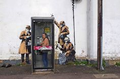 #banksy #spy #streetart #wall #phonebooth