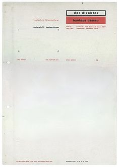 FFFFOUND! | Interesting Letterhead Designs | Letterheady #letterhead #bauhaus #color