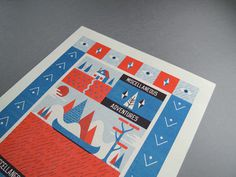 Risograph Art Print