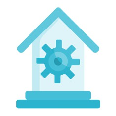 See more icon inspiration related to furniture and household, architecture and city, home automation, smart home, automation, technological, real estate, gears, charging, electronics, electronic, house, buildings, home, battery and gear on Flaticon.