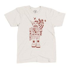 Good Robot by James Viola on https://cottonbureau.com/products/good-robot #vector #apparel #design #shirt #illustration #art #fun #robots