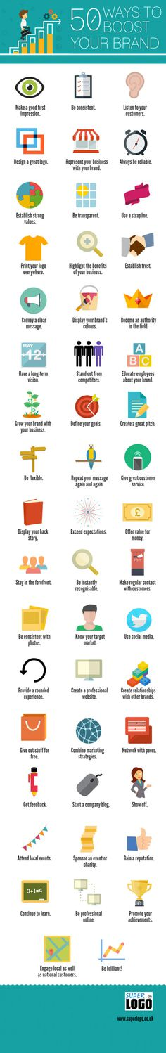50 Ways To Boost Your Brand