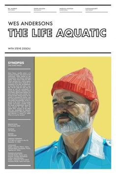 The Artwork of Ben Biondo #wes #anderson #the #poster #futura #aquatic #life
