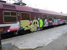 AsteRoids #train #graffit #smiley