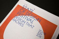 State of Design Festival 2011 | SouthSouthWest #font #festival #newspaper #branding