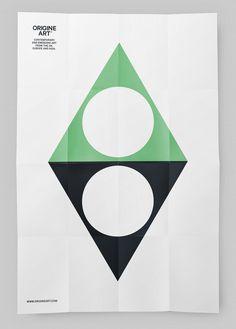 Poster design for Origine Art by Ascend Studio #poster #design #geometric #art