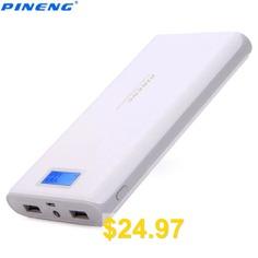 Original #PINENG #PN #- #920 #20000mAh #Power #Bank #- #WHITE