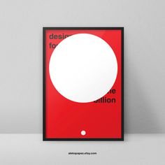 design for one billion - www.apapez.com #design #billion #circle #bold #minimalist #future