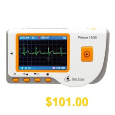 Heal #Force #Prince #180B #Easy #Handheld #Portable #Unit #With #3-Lead #Cable #and #Electrodes