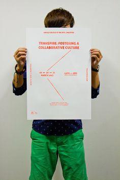 Transpire - A2 Double Side Silkscreen Poster #poster #handmade #singapore #diy #tactile #silkscreen #sg #singaporean