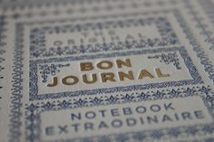 Bon Journal on Behance #letterpress
