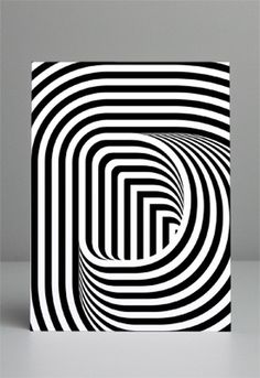 FFFFOUND! | P02.jpg (JPEG Image, 275x400 pixels) #typography #optical #illusion #dimension
