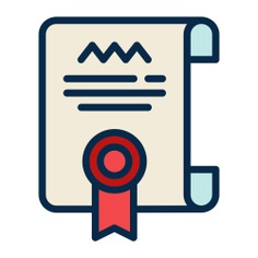 See more icon inspiration related to contract, patent, certificate, diploma, education and degree on Flaticon.