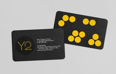 Client List #business #card #yellow #bold #circles #black #clean