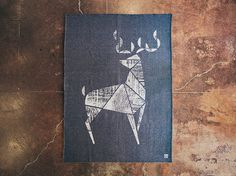 Deer_Flat #deer #geometric #floor #simple #woolen #wool #animal
