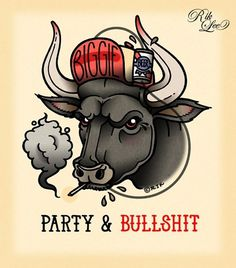 party-bullshit.jpg (448×510) #illustration #design #tattoo