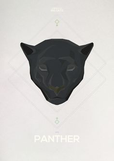 Big Cats - Hadrien Degay Delpeuch #vector #cat #paper #illustration #panther #minimal #animal #8bit