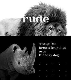 RUDE – free font