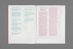 SI Special: Hannes Gloor & Stefan Jandl | September Industry #red #book #type #layout #green