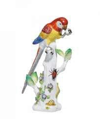 Parrot on tree stump. Meissen #Sets #Teasets #Porcelainsets #Antiqueplates #Plates #Wallplates #Figures #Porcelainfigurines #porcelain
