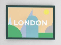 London Postcard #london #illustration #minimal #postcard