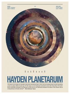 This is a poster for the Hayden Planetarium, a personal project. #hayden #scime #space #anthony #planetarium #poster #planets #typography
