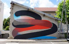 abstract france momo besancon #graffiti #momo #abstract #lines #gradient #outdoor