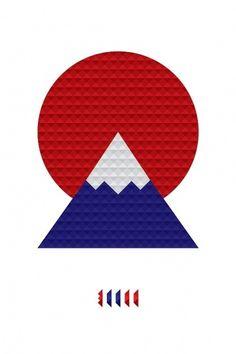 Ken Yamaguchi : Japexican Creativity #sun #mountain #japan #poster