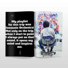 #magazine #layout #mockup #interview
