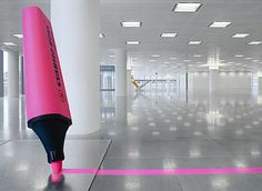 Giant Office Supplies! (5 pics) - My Modern Metropolis #photography #office #highlighter