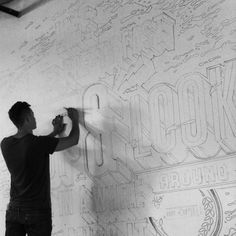 Type Mural + Video on Behance #lettering #painted #paint #drawn #hand #typography