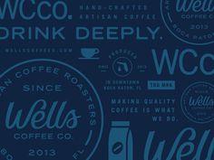 #pattern #blue #coffee