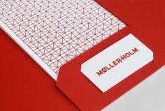 Møller/Holm | Lovely Stationery #red #minimalistic #card #design #brand #identity #logo