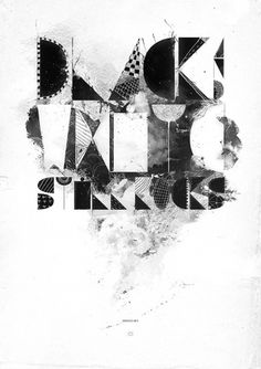 Black & White Still Rocks #illustration #blackwhite #typography