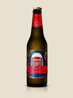 Arsenal: Go drunnnkers! #arsenal #beer #design