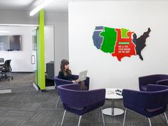 office, Schermer, minnesota, minneapolis #office #minnesota #map #space #schermer #minneapolis #purple #lime #green