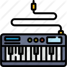 See more icon inspiration related to electric keyboard, music and multimedia, electric piano, music instruments, music instrument, keyboards, musical instrument, piano, education, keyboard and music on Flaticon.